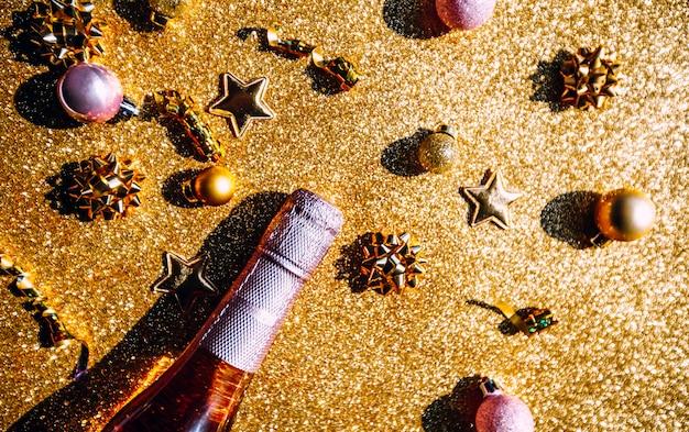 Kerstmis of nieuwjaar partij viering concept