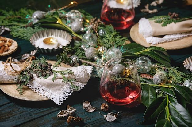 Kerstmis of nieuwjaar tabel instelling