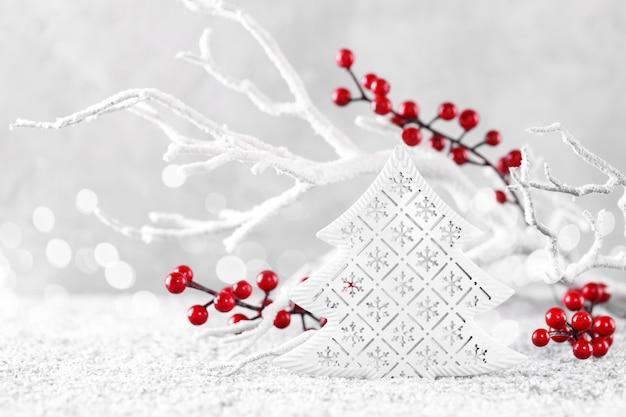Kerstmis of nieuwjaar wenskaart