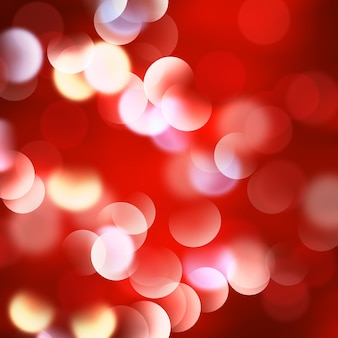 Kerstmis rode achtergrond met bokeh-effect