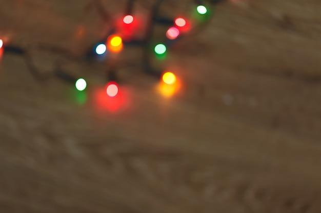 Kerstmis steekt bokeh achtergrond aan