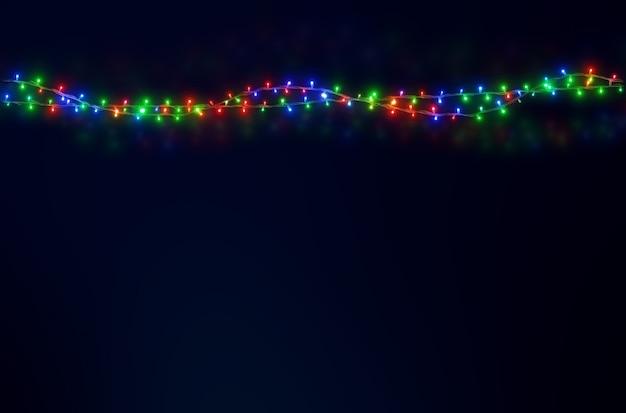 Kerstmis steekt leidene decoratieachtergrond aan voor kerstmis, nieuwjaar en vieringsconceptontwerp