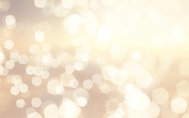 Kerstmisachtergrond met gouden bokehlichtenontwerp