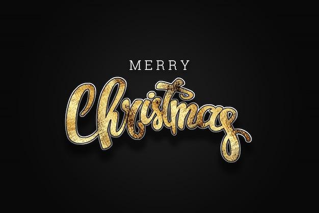 Kerstmisachtergrond met gouden lichten bokeh. xmas wenskaart. poster, banner.