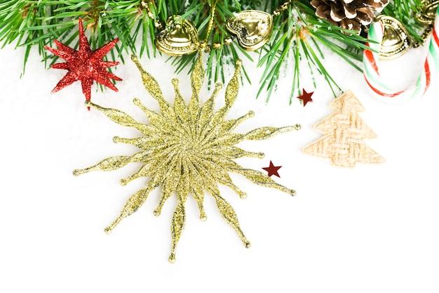 Kerstmisachtergrond met sparster