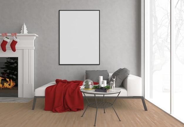 Kerstmisbinnenland - kunstachtergrond - verticaal frame