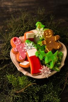 Kerstmisconcept met peperkoek