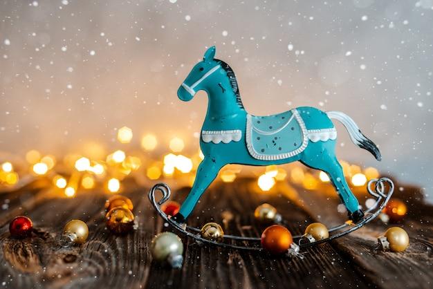 Kerstmisdecoratie op bokehachtergrond