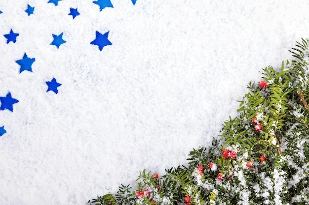 Kerstmisgrens met copyspace