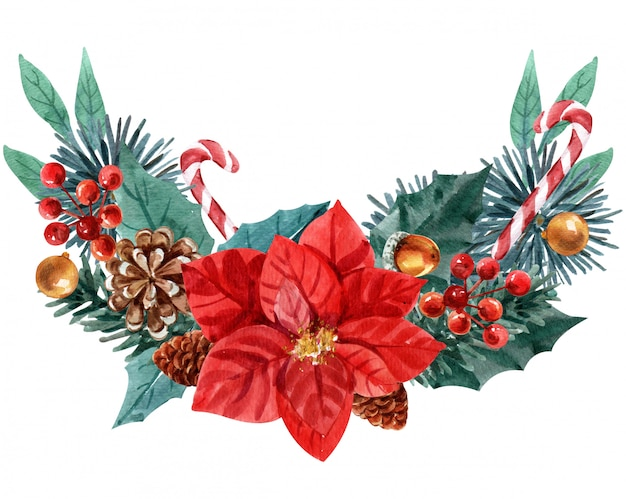 Kerstmiskroon op witte achtergrond