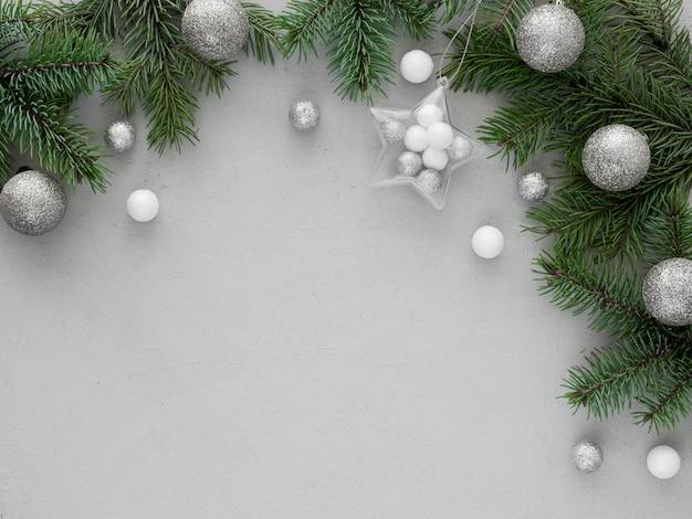 Kerstmisspar tak met exemplaarruimte