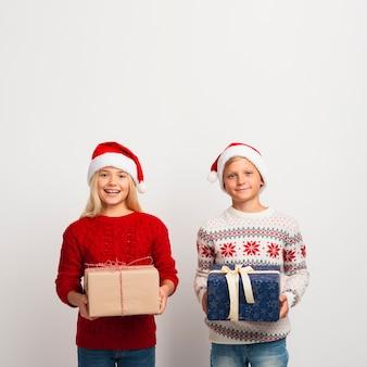 Kerstmisvrienden met exemplaarruimte