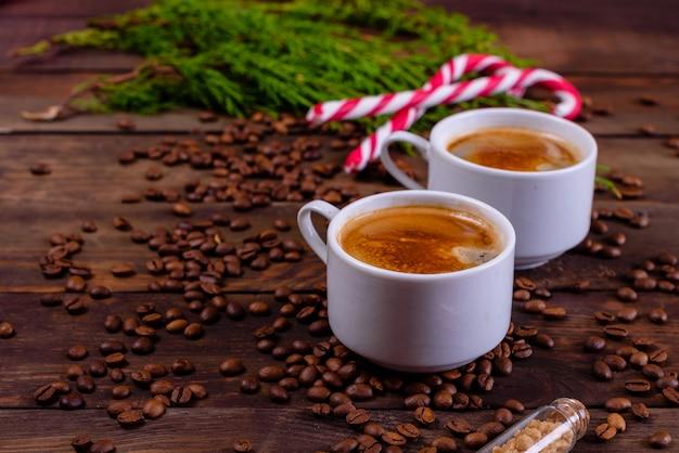 Kerstochtend met geurige koffie