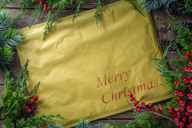 Kerstpakket of brief in vintage envelop