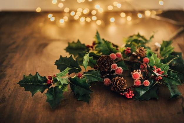 Kerstsamenstelling met maretak