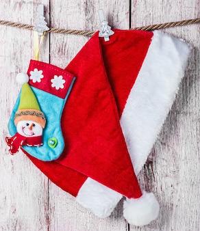 Kerstsok en kerstmuts