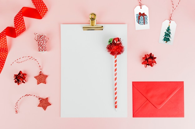 Kerstthema-briefpapier