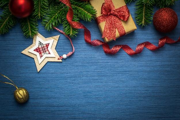 Kerstvakantie blauw frame