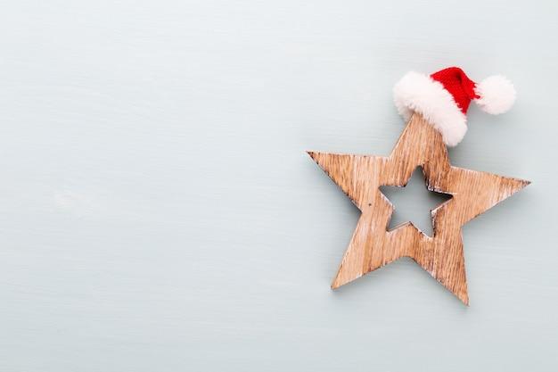Kerstvakantie samenstelling op houten achtergrond