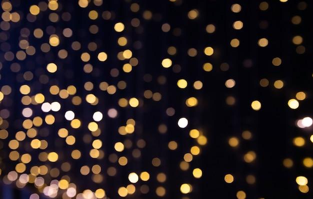 Kerstverlichting onscherpe achtergrond