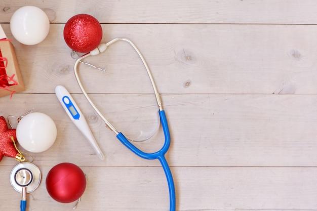 Kerstversiering en medische hulpmiddelen