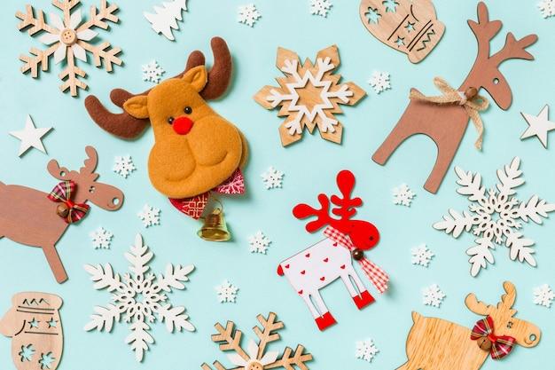 Kerstversiering gelukkig nieuwjaar concept