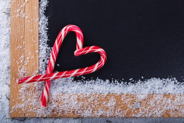 Kerstversiering, snoepgoed met hartvorm