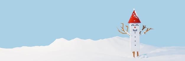 Kerstvieringen met schattige sneeuwpop