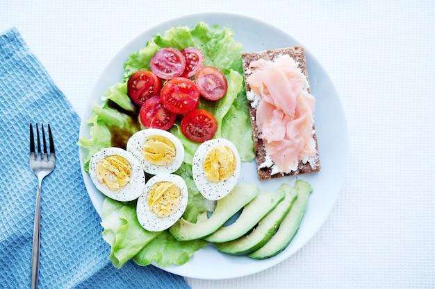 Ketogeen paleodieet. gezond ontbijt.
