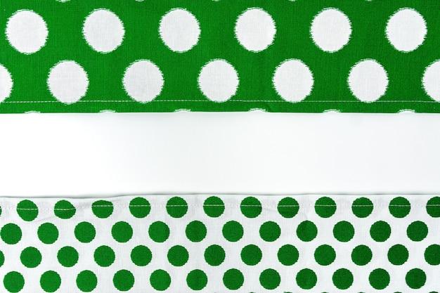 Keuken doek geïsoleerd op een witte achtergrond, close-up