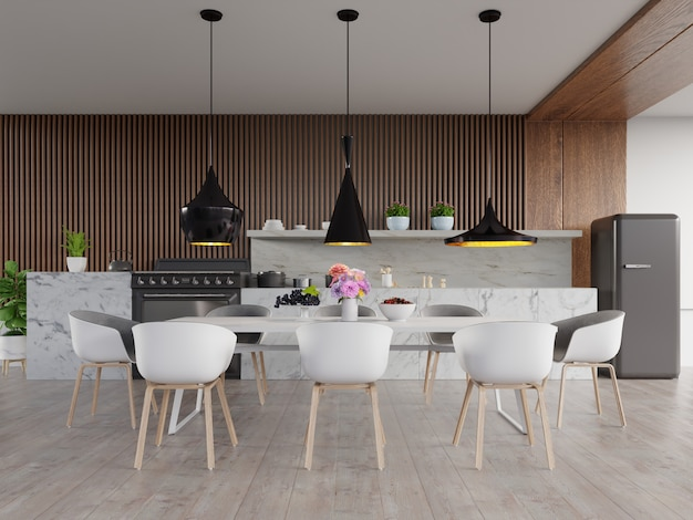 Keuken interieur concept.