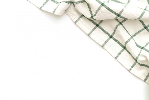 Keukendoek (servet) dat op wit wordt geïsoleerd