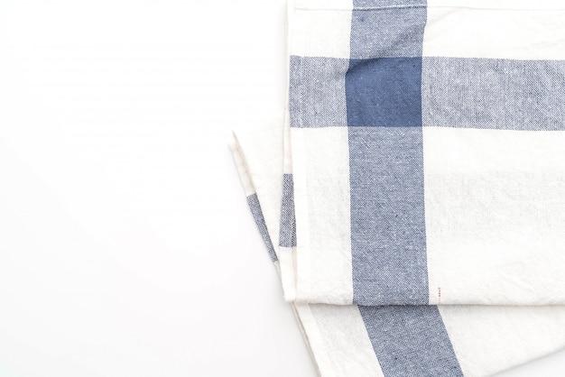 Keukendoek (servet) op witte achtergrond