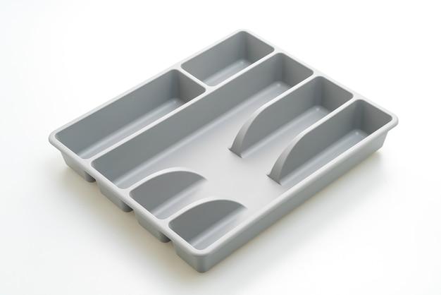Keukendoos met bestek voor geïsoleerde lepels, vorken, messen Premium Foto