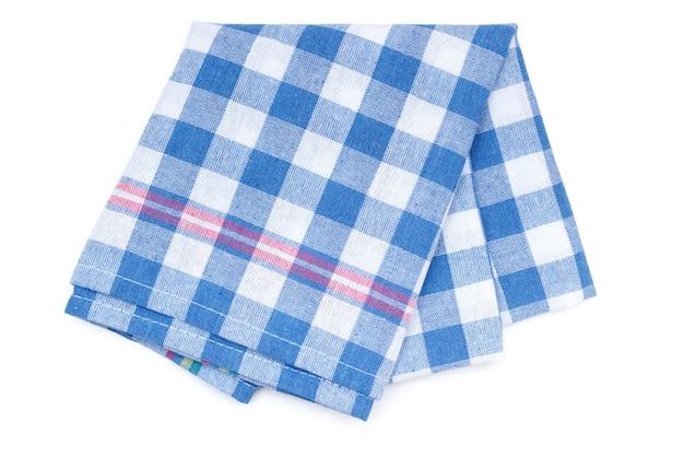 Keukenhanddoek met blauw patchworkpatroon