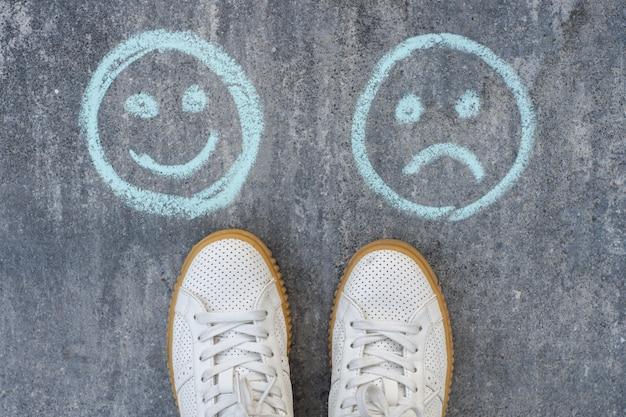 Keuze - happy smileys of unhappy