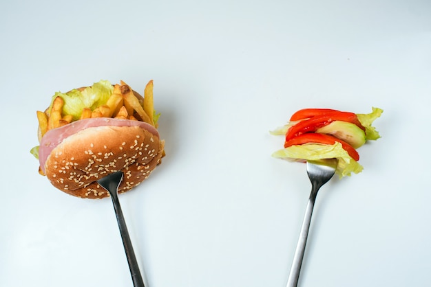 Keuze uit gezonde of junkfood