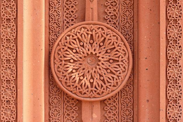Khachkar patroon op de muur