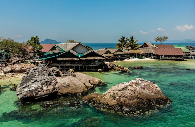 Khai nok island, khai island in de toeristische attractie van phang nga