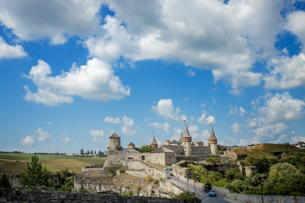 , khmelnytskyi region, oekraïne. kamyanets-podilsky een romantische stad