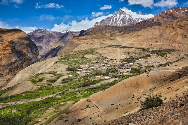 Kibber dorp in de himalaya