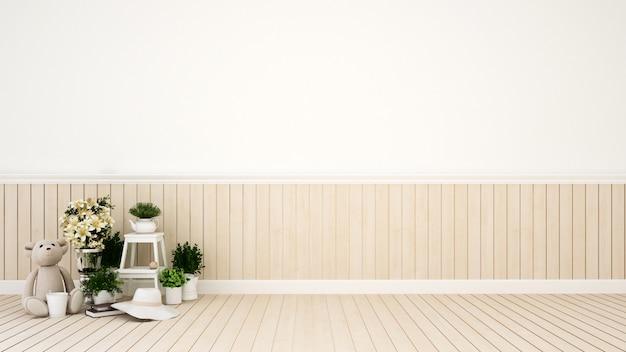 Kid kamer of woonkamer in huis of appartement - 3d-rendering