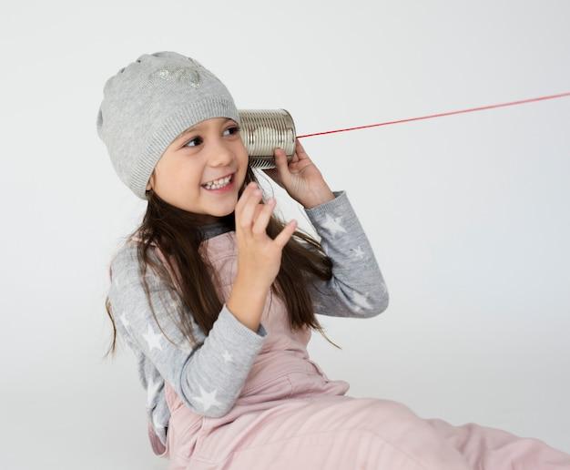 Kid kindertijd mensen race emotionele studio shoot