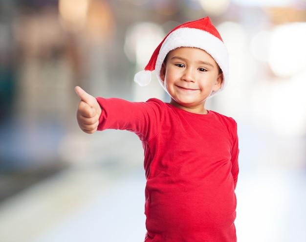 Kid met ht santa