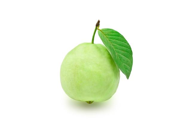 Kies één organisch guavefruit met groen blad uit