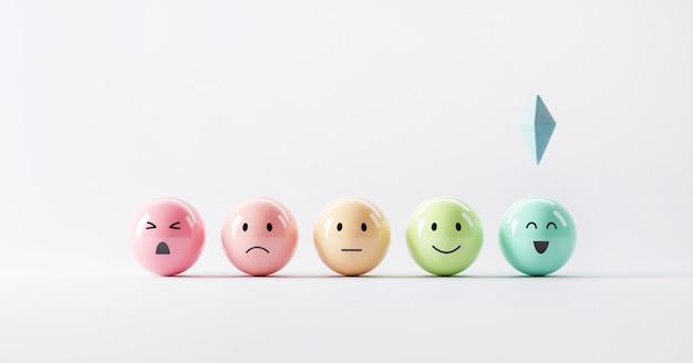 Kies emoji-emoticons gelukkige stemming
