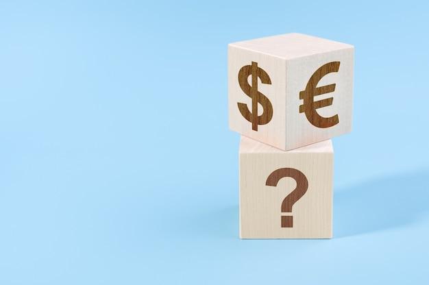Kiezen tussen dollar en euro