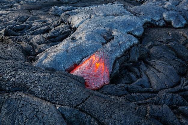 Kilauea actieve vulkaan op big island, hawaii