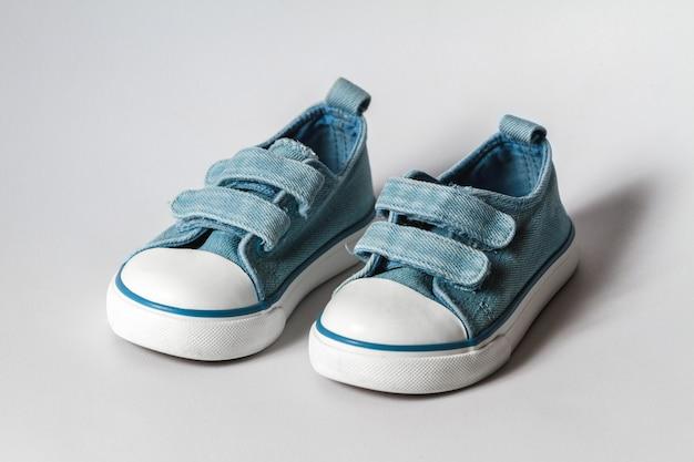 Kinder sneakers van blauwe kleur