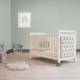 Kinderbed babybedje fluwelen kinderkamer